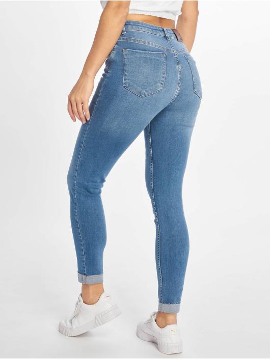 NA-KD Skinny Jeans Raw Hem niebieski