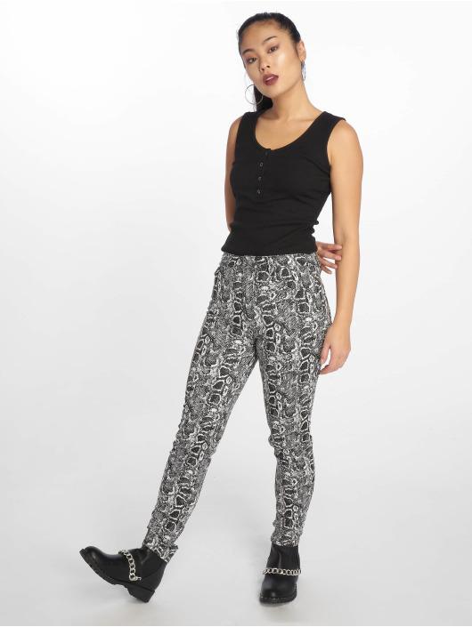 NA-KD Skinny Jeans Snake Printed weiß