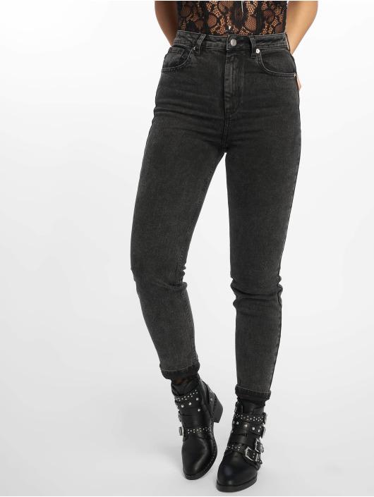 NA-KD Skinny jeans High Rise zwart