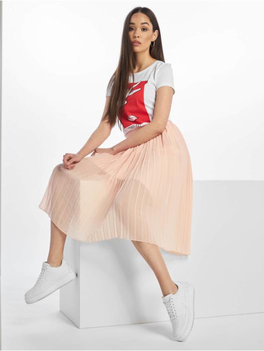 NA-KD Skirt Midi Pleated rose