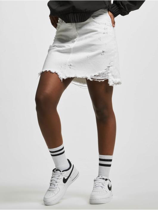 NA-KD Skirt Distressed white