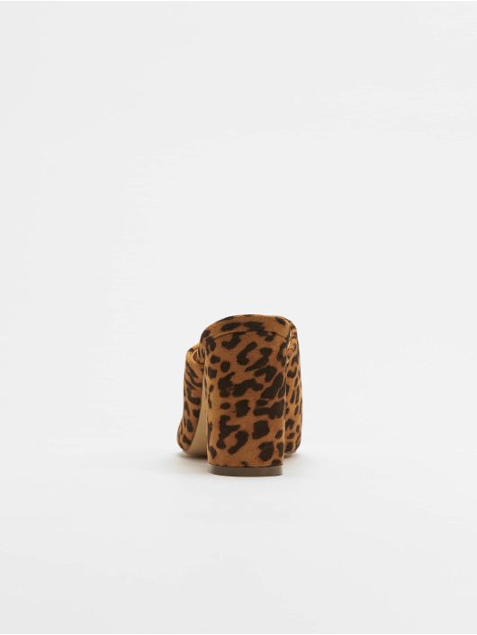 NA-KD Slipper/Sandaal Leopard bruin