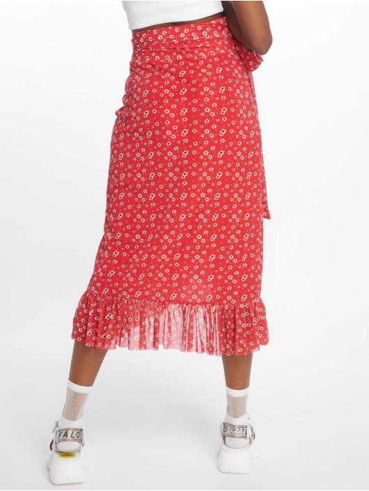 NA-KD Spódniczki Mesh Overlap czerwony