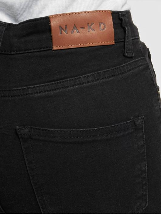 NA-KD Spodnie wizytowe Cropped Flare czarny