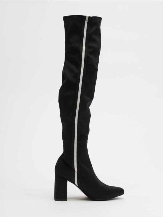 NA-KD Støvler Striped Overknee svart