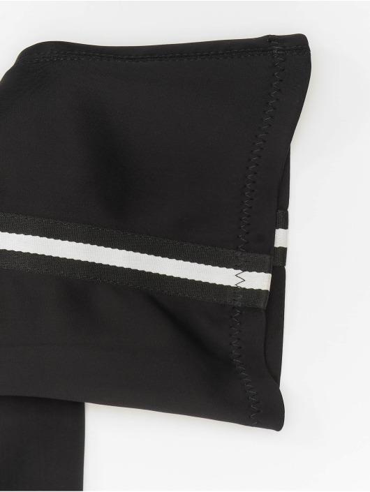NA-KD Stiefel Striped Overknee schwarz