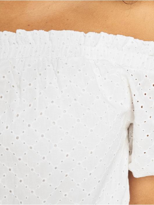 NA-KD Sukienki Off Shoulder Puffy Sleeve bialy