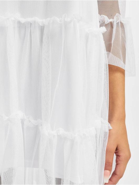 NA-KD Sukienki Ruffle Mesh bialy