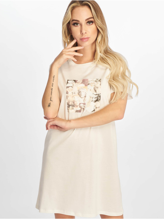 NA-KD Sukienki Printed bialy