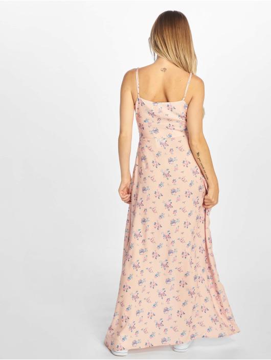 NA-KD Sukienki Front Tie Floral rózowy