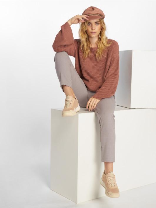 NA-KD Svetry Cropped Long Sleeve Knitted růžový