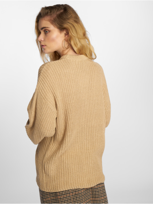 Pull Na Femme kd Beige Shoulder Dropped Knitted 593922 Sweatamp; zUMpqVS
