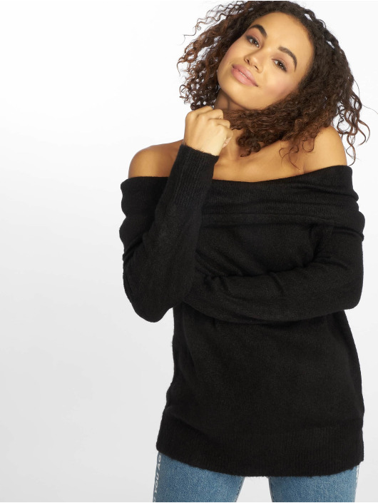 Sweatamp; Pull 603104 Na Folded Offshoulder Wide Noir Femme kd rdQCtsxhB