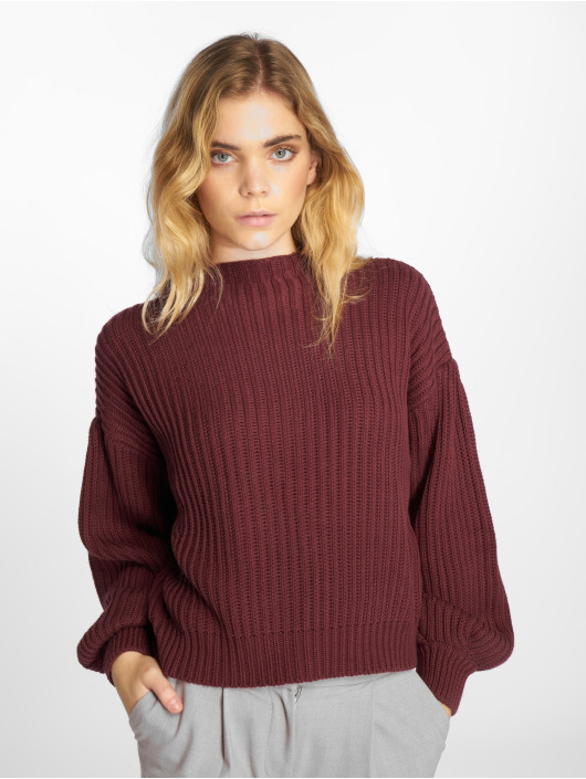 NA-KD Sweat & Pull Balloon Sleeve Knitted pourpre