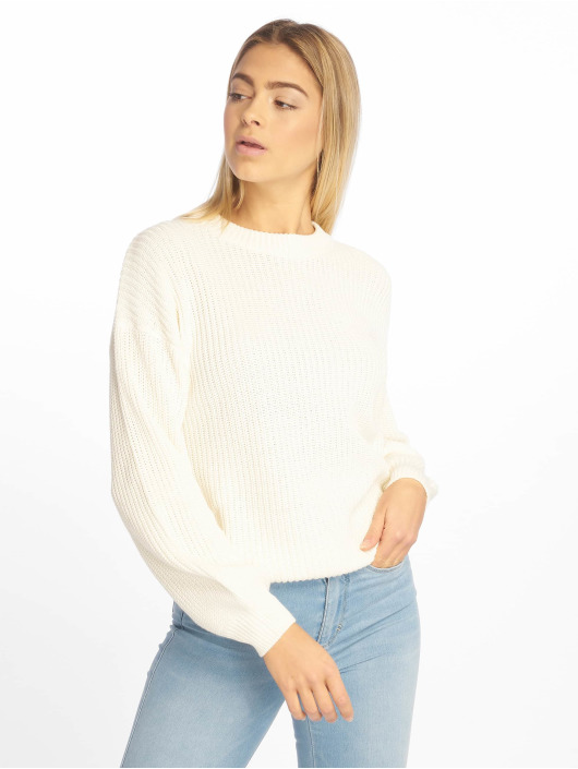 NA-KD Swetry Balloon Knit bialy