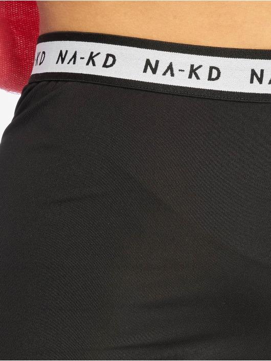 NA-KD Szorty Logo Cycling czarny