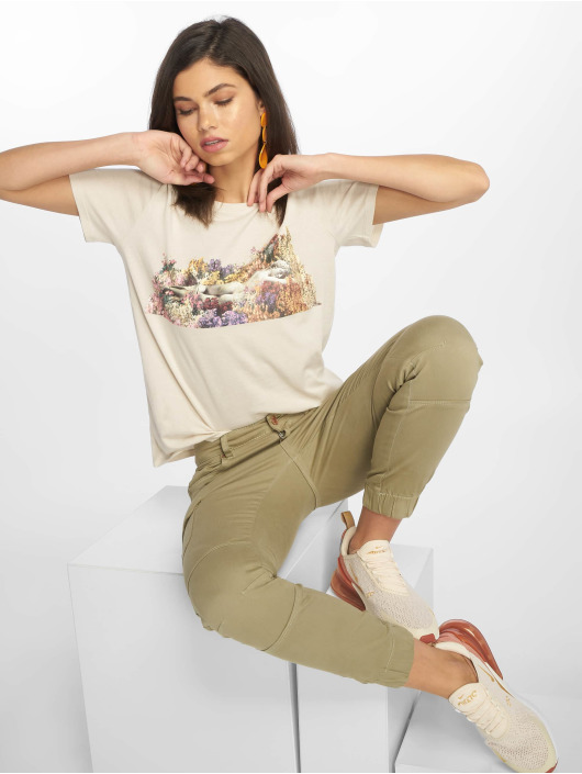NA-KD t-shirt Flower Girl beige