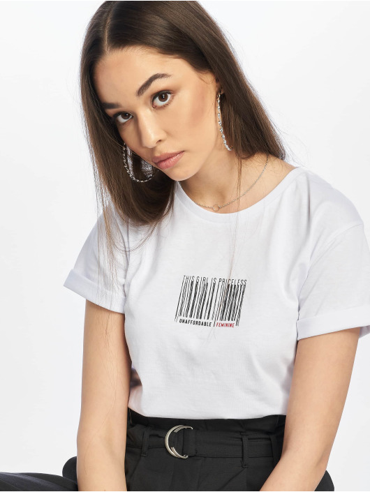 NA-KD T-Shirt Priceless blanc
