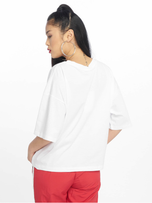 NA-KD T-Shirt Tired 24/7 Oversized blanc
