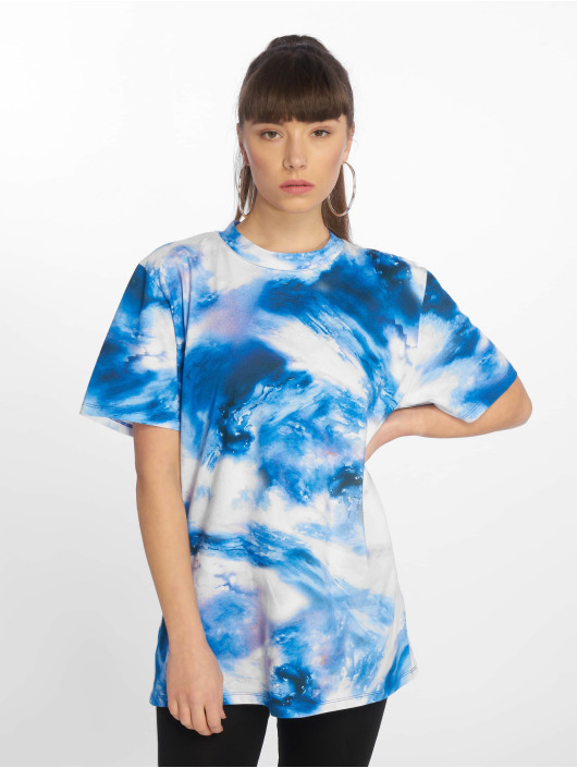 NA-KD T-Shirt Aquarelle Printed blue