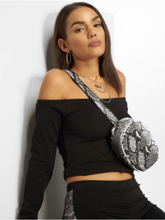 NA-KD T-Shirt manches longues Cropped Off Shoulder noir
