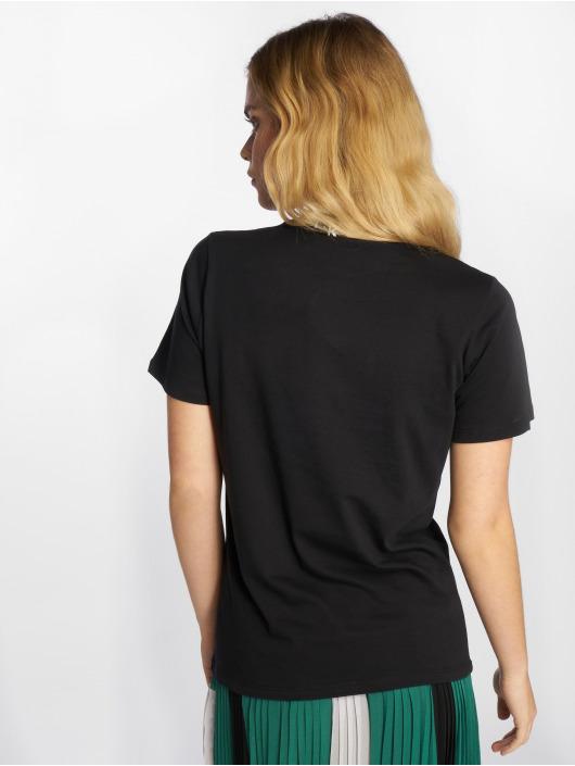 NA-KD T-Shirt Polo Print noir