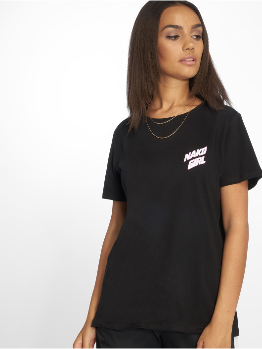 NA-KD T-Shirt Nakd Girl noir