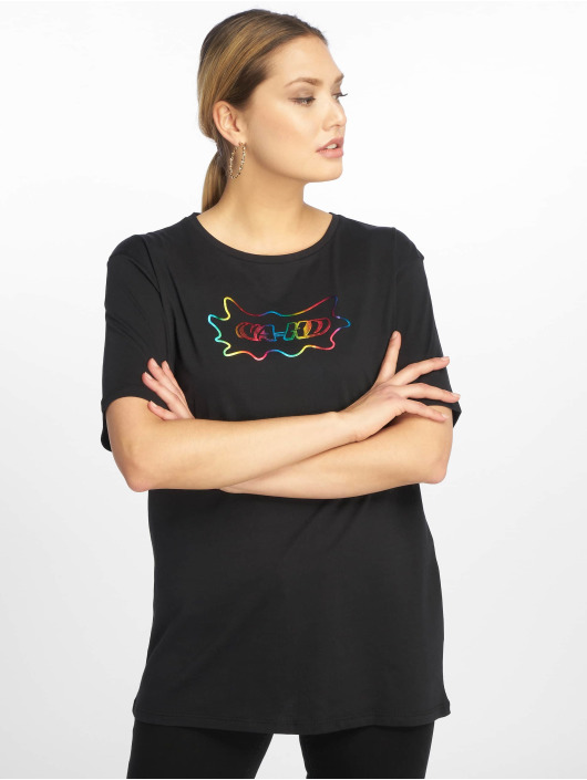 NA-KD T-Shirt Rainbow schwarz