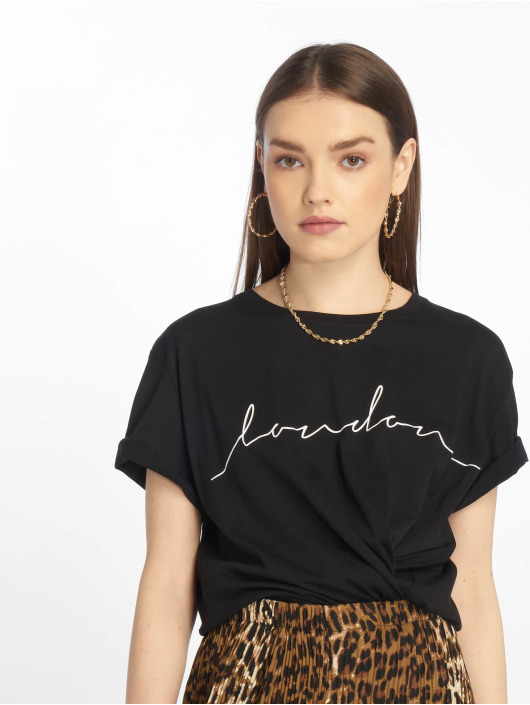 NA-KD T-Shirt London schwarz