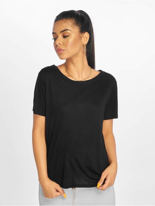 NA-KD T-Shirt Open Back schwarz