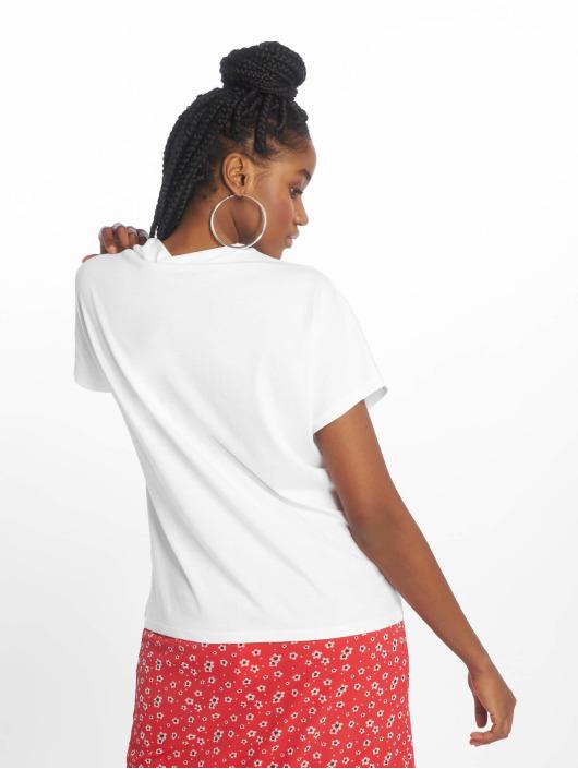 NA-KD T-Shirt High Neck weiß