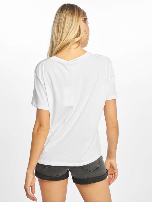 NA-KD T-Shirt Double Logo weiß