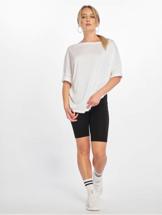 NA-KD T-Shirt Off Shoulder Loose weiß