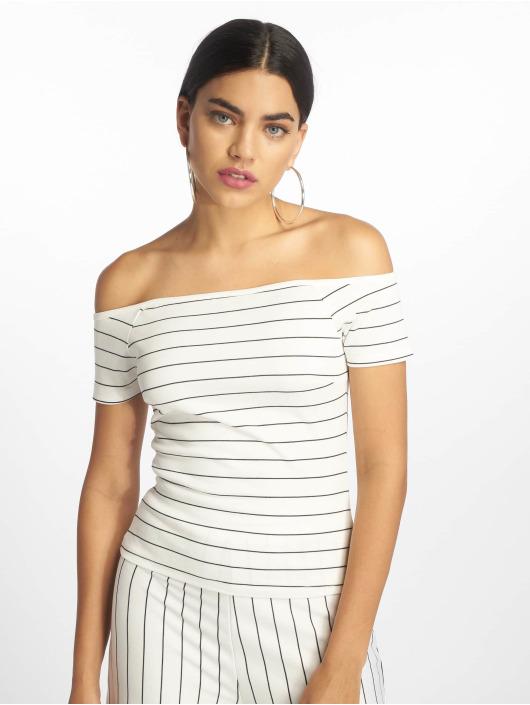 NA-KD T-Shirt Strip Off white