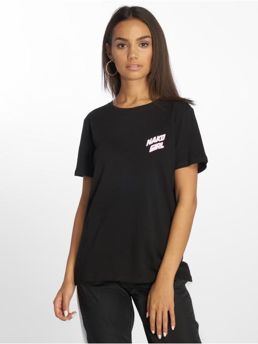 NA-KD T-Shirty Nakd Girl czarny