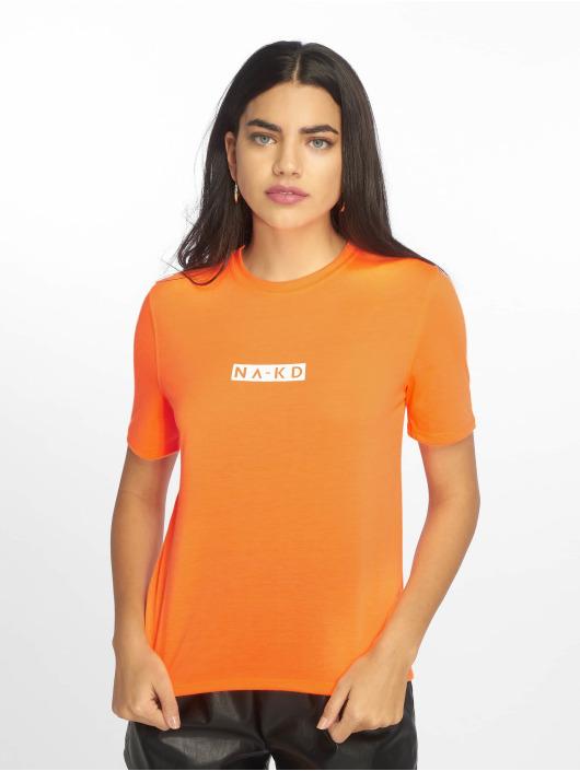 NA-KD T-Shirty Neon Logo pomaranczowy