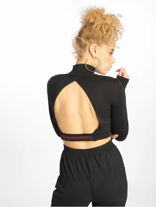 NA-KD Top Open Back black