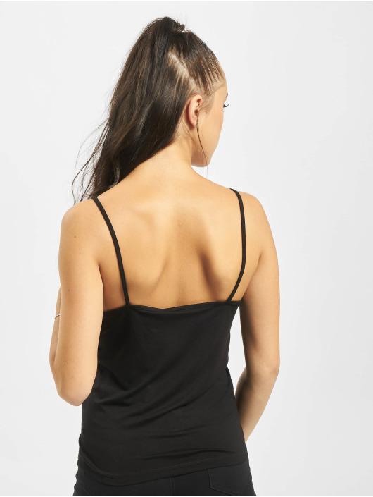 NA-KD Top Draped Singlet black