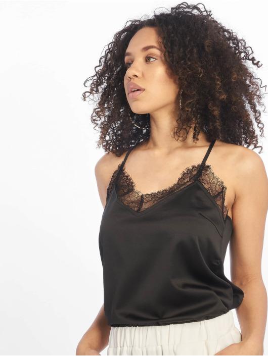 NA-KD Top Lace negro