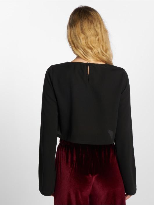 NA-KD Top Flare Sleeve schwarz
