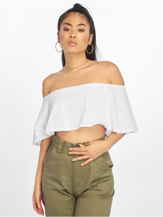 NA-KD top Ruffle wit