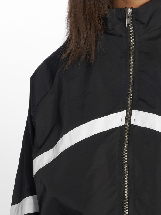 NA-KD Transitional Jackets Stripe Detailed svart