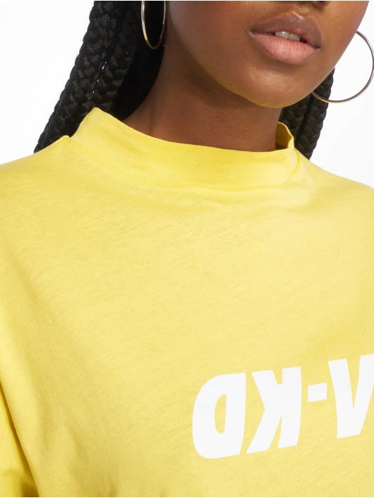 NA-KD Tričká High Neck žltá