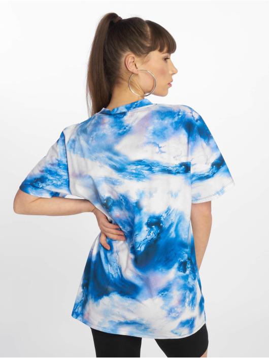 NA-KD Tričká Aquarelle Printed modrá
