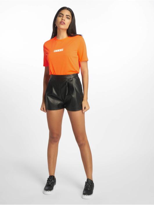 NA-KD Tričká Neon Logo oranžová