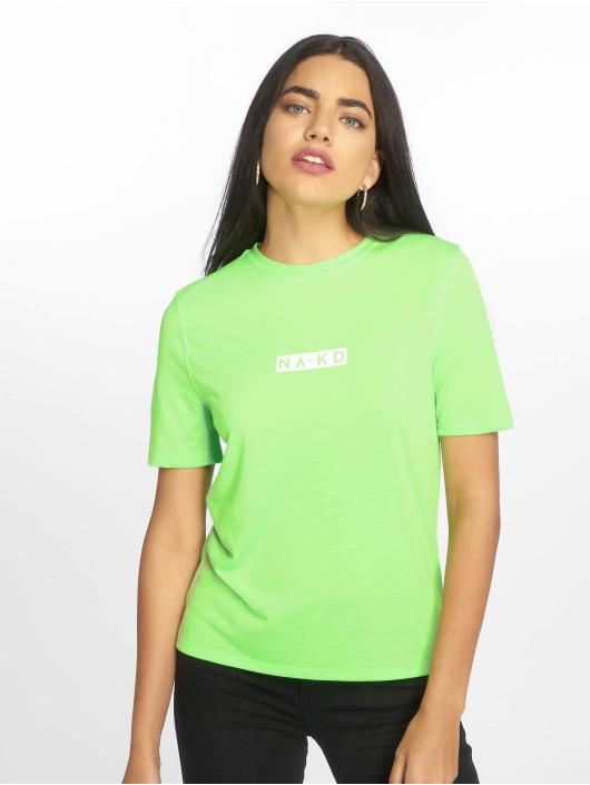 NA-KD Tričká Neon Logo zelená