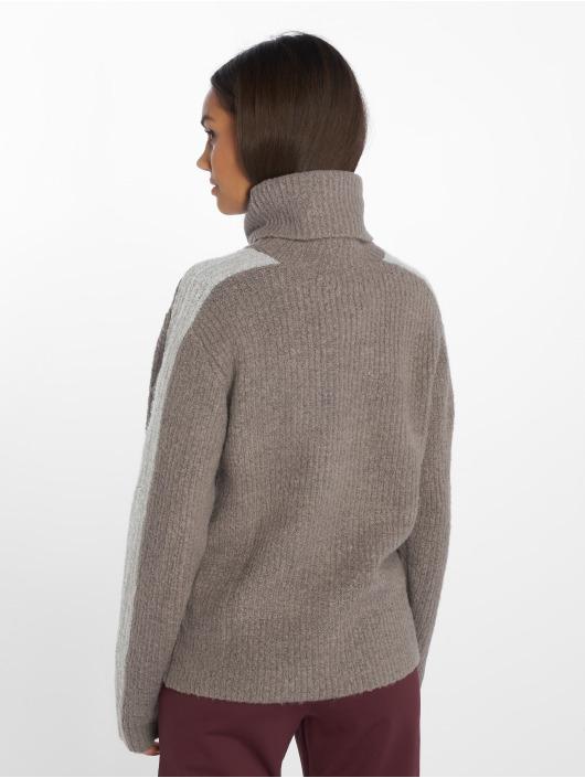 NA-KD Tröja Panel Knitted grå