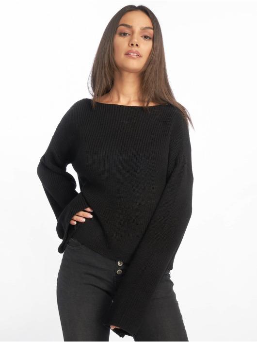 NA-KD Tröja Knitted Long Sleeve svart