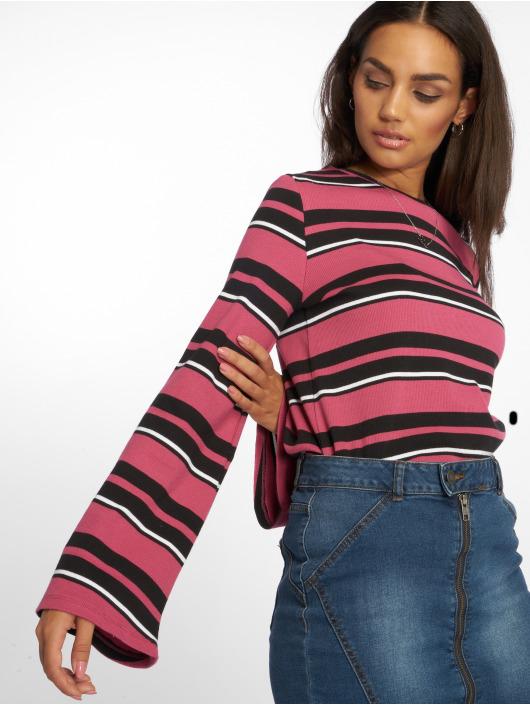 NA-KD trui Wide Sleeve Striped pink