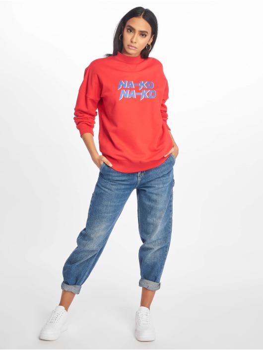 NA-KD trui High Collar rood